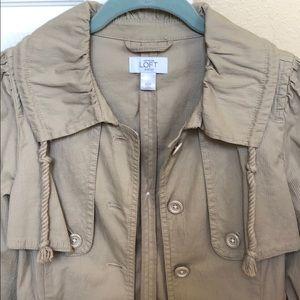 LOFT XSP Khaki 3/4 sleeve jacket